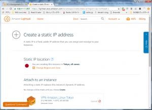 Lightsail create static IP adderss